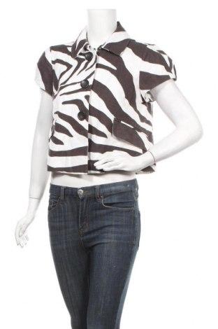 Дамско яке Loft By Ann Taylor, Размер M, Цвят Бял, 52% лен, 42% памук, 6% полиестер, Цена 12,60лв.