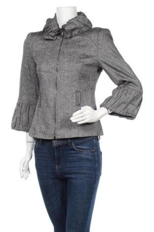 Дамско яке Zara, Размер S, Цвят Сив, 58% лен, 40% вискоза, 2% еластан, Цена 12,86лв.