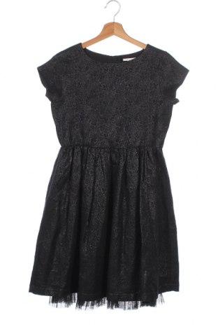 Παιδικό φόρεμα Esprit, Μέγεθος 11-12y/ 152-158 εκ., Χρώμα Μαύρο, 63% βαμβάκι, 25% πολυεστέρας, 12% μεταλλικά νήματα, Τιμή 26,89€