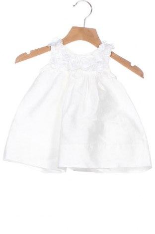 Παιδικό φόρεμα Monnalisa, Μέγεθος 3-6m/ 62-68 εκ., Χρώμα Λευκό, 90% βαμβάκι, 10% πολυεστέρας, Τιμή 32,59€