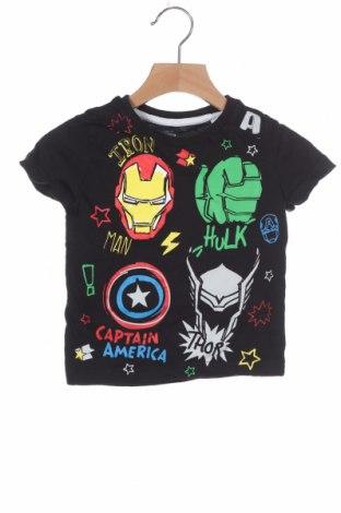 Παιδικό μπλουζάκι Marvel, Μέγεθος 18-24m/ 86-98 εκ., Χρώμα Μαύρο, Βαμβάκι, Τιμή 9,35€