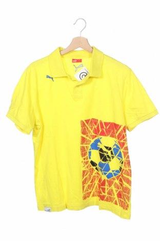 Παιδικό μπλουζάκι PUMA, Μέγεθος 15-18y/ 170-176 εκ., Χρώμα Κίτρινο, Βαμβάκι, Τιμή 13,64€