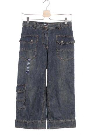 Dětské džíny  Okaidi, Velikost 11-12y/ 152-158 cm, Barva Modrá, Bavlna, Cena  230,00Kč