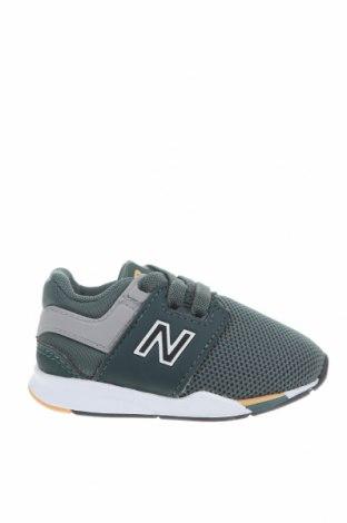 Παιδικά παπούτσια New Balance, Μέγεθος 20, Χρώμα Πράσινο, Κλωστοϋφαντουργικά προϊόντα, δερματίνη, Τιμή 34,41€
