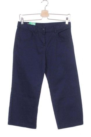Παιδικό παντελόνι United Colors Of Benetton, Μέγεθος 12-13y/ 158-164 εκ., Χρώμα Μπλέ, 98% βαμβάκι, 2% ελαστάνη, Τιμή 10,04€