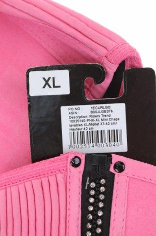 Γκέτες για υππασία Riders Trend, Μέγεθος XL, Χρώμα Ρόζ , Φυσικό σουέτ, Τιμή 10,55€