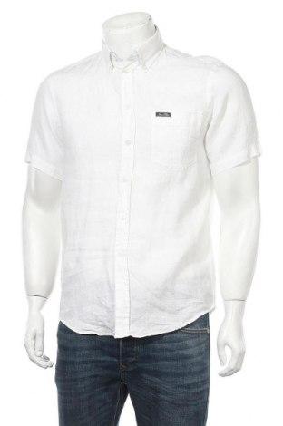 Мъжка риза Jean Paul, Размер S, Цвят Екрю, Лен, Цена 8,51лв.