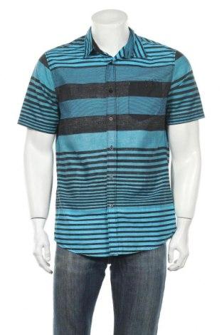 Ανδρικό πουκάμισο Route 66, Μέγεθος M, Χρώμα Μπλέ, 55% βαμβάκι, 45% πολυεστέρας, Τιμή 5,52€