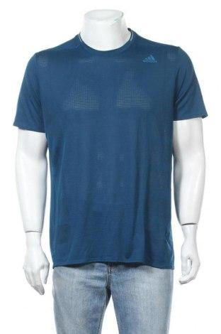 Ανδρικό t-shirt Adidas, Μέγεθος L, Χρώμα Μπλέ, Πολυεστέρας, Τιμή 20,78€