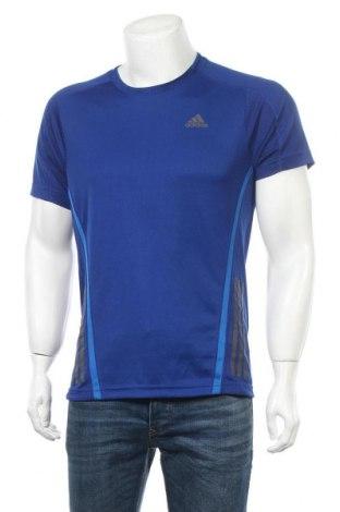 Ανδρικό t-shirt Adidas, Μέγεθος M, Χρώμα Μπλέ, Πολυεστέρας, Τιμή 19,74€