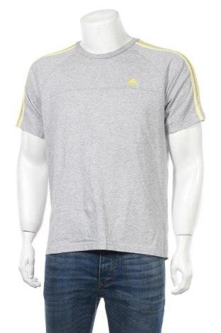 Ανδρικό t-shirt Adidas, Μέγεθος M, Χρώμα Γκρί, 70% βαμβάκι, 30% πολυεστέρας, Τιμή 12,34€