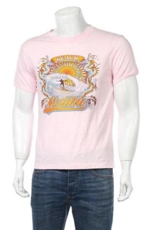 Мъжка тениска Fishbone, Размер M, Цвят Розов, Памук, Цена 12,50лв.