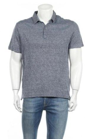 Ανδρικό t-shirt Massimo Dutti, Μέγεθος XXL, Χρώμα Μπλέ, 52% λινό, 48% βαμβάκι, Τιμή 13,20€