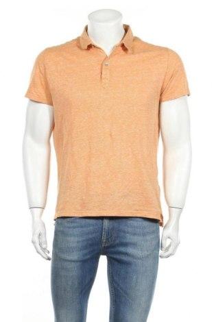Ανδρικό t-shirt Massimo Dutti, Μέγεθος L, Χρώμα Πορτοκαλί, 52% λινό, 48% βαμβάκι, Τιμή 13,20€