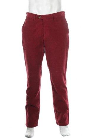 Ανδρικό κοτλέ παντελόνι Eduard Dressler, Μέγεθος L, Χρώμα Κόκκινο, 97% βαμβάκι, 3% ελαστάνη, Τιμή 24,59€