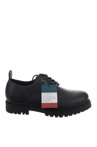 Ανδρικά παπούτσια Tommy Hilfiger, Μέγεθος 40, Χρώμα Μαύρο, Γνήσιο δέρμα, Τιμή 41,60€