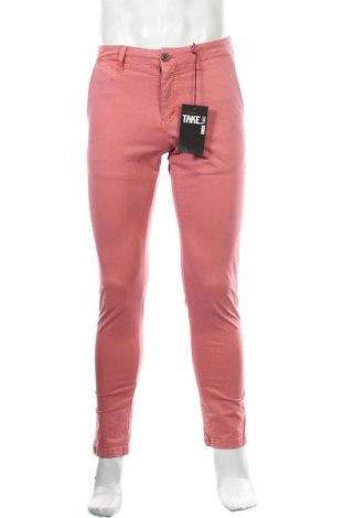 Ανδρικό παντελόνι Take Two, Μέγεθος S, Χρώμα Ρόζ , 97% βαμβάκι, 3% ελαστάνη, Τιμή 1,94€