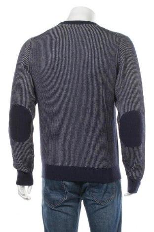 Мъжки пуловер SUN68, Размер L, Цвят Син, 50% вълна, 50% памук, Цена 104,25лв.