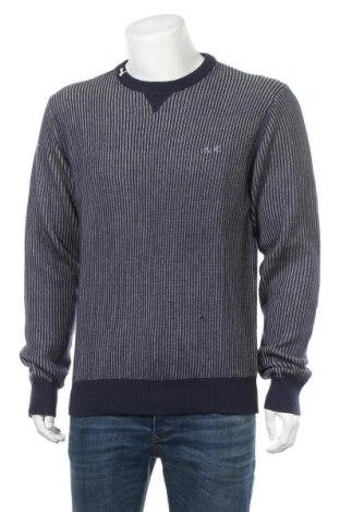 Мъжки пуловер SUN68, Размер XL, Цвят Син, 50% вълна, 50% памук, Цена 38,74лв.