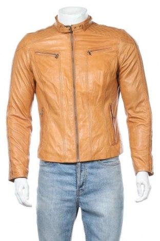 Мъжко кожено яке Danier, Размер L, Цвят Бежов, Естествена кожа, Цена 78,49лв.