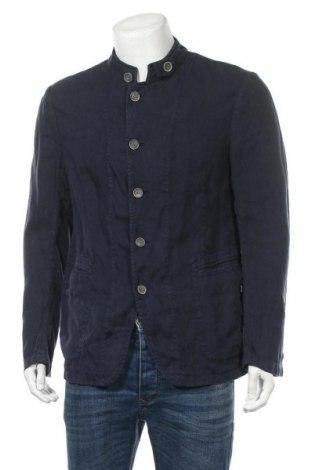 Ανδρικό σακάκι Armani Collezioni, Μέγεθος L, Χρώμα Μπλέ, 64% λινό, 36% βισκόζη, Τιμή 31,70€