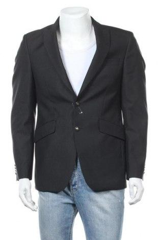 Ανδρικό σακάκι Masterhand, Μέγεθος M, Χρώμα Μαύρο, 61% μαλλί, 39% πολυεστέρας, Τιμή 8,60€