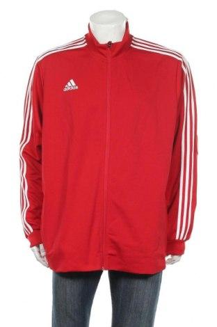 Ανδρική αθλητική ζακέτα Adidas, Μέγεθος XXL, Χρώμα Κόκκινο, Πολυεστέρας, Τιμή 35,57€