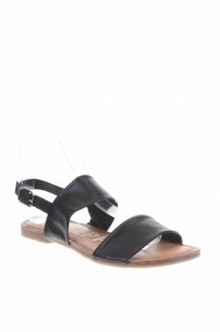 Сандали Gioseppo, Размер 36, Цвят Черен, Естествена кожа, Цена 47,17лв.
