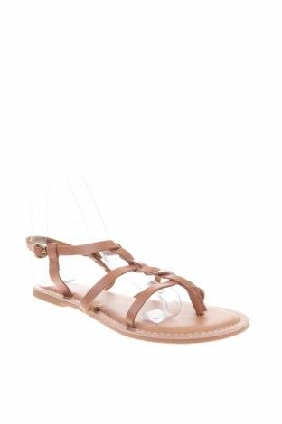 Сандали New Look, Размер 38, Цвят Бежов, Естествена кожа, Цена 40,05лв.