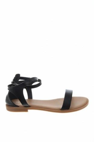 Сандали Pier One, Размер 42, Цвят Черен, Естествена кожа, Цена 53,40лв.