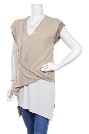 Τουνίκ Zara, Μέγεθος M, Χρώμα  Μπέζ, Βισκόζη, Τιμή 13,46€