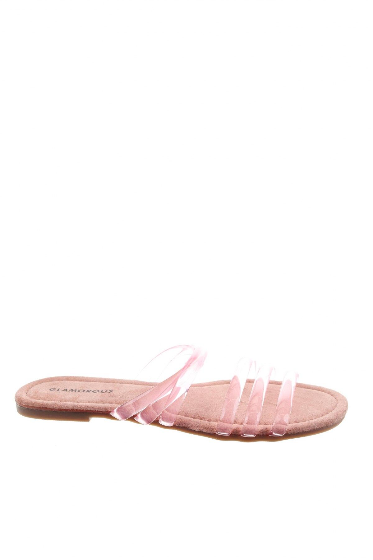 Чехли Glamorous, Размер 37, Цвят Розов, Полиуретан, Цена 20,67лв.