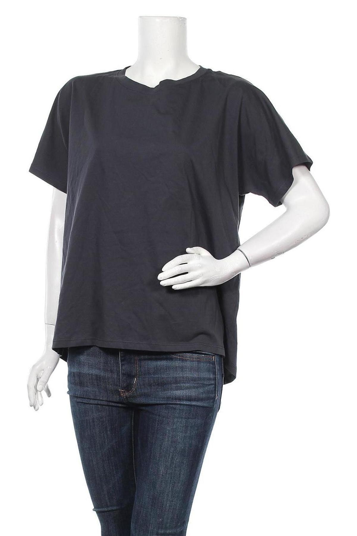 Дамска тениска Massimo Dutti, Размер L, Цвят Сив, Памук, Цена 20,65лв.