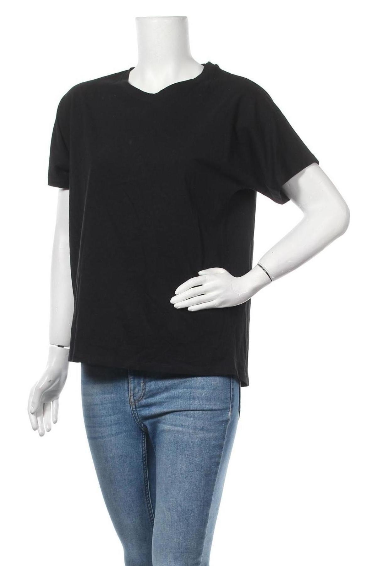 Дамска тениска Massimo Dutti, Размер M, Цвят Черен, Памук, Цена 14,75лв.