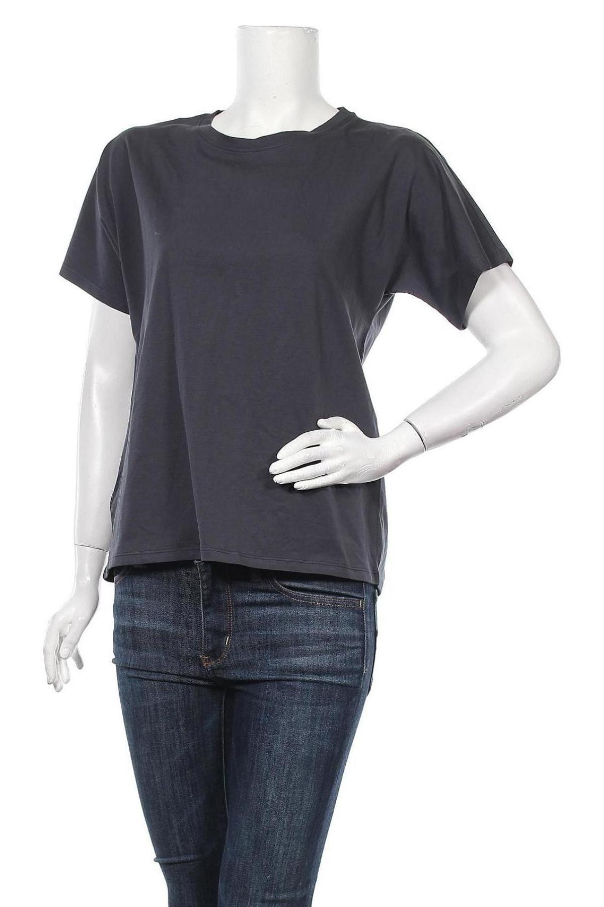 Дамска тениска Massimo Dutti, Размер S, Цвят Сив, Памук, Цена 20,65лв.