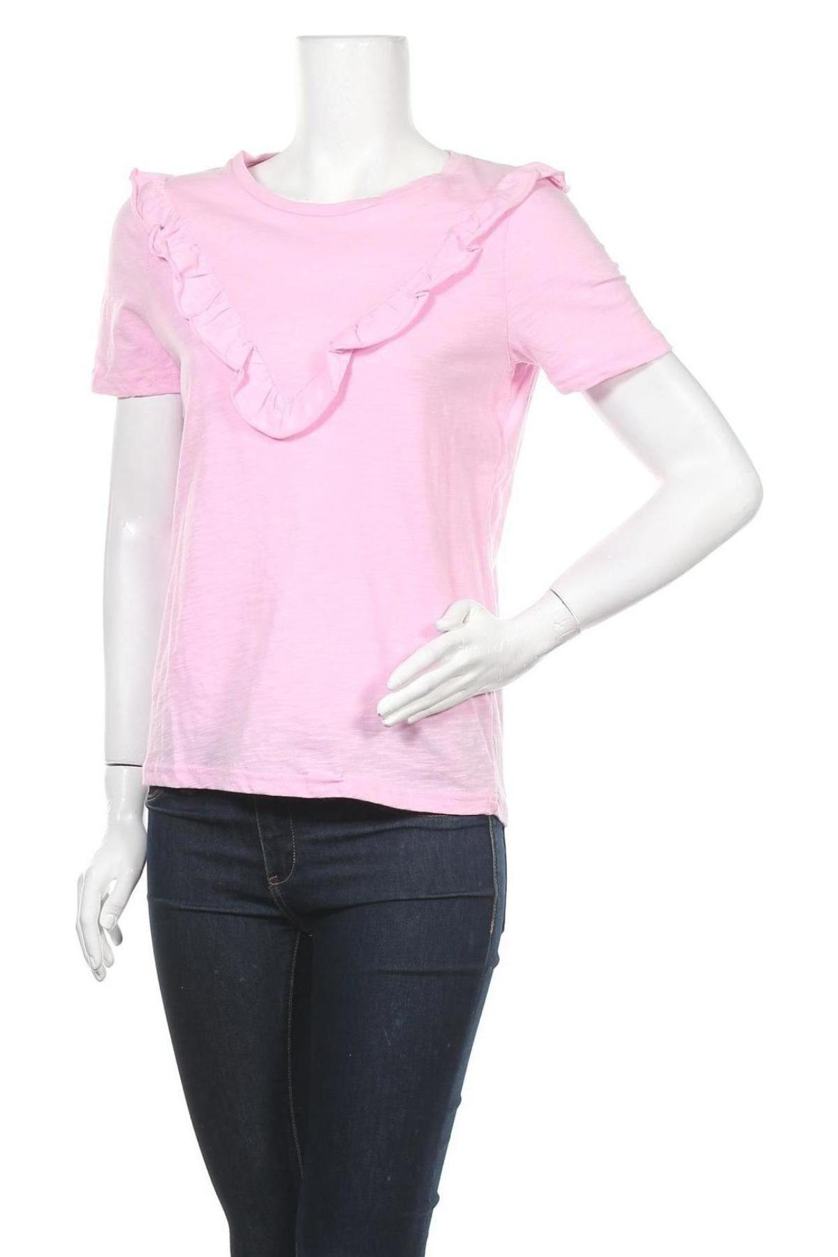 Дамска блуза Project Unknown, Размер XS, Цвят Розов, Памук, Цена 27,00лв.