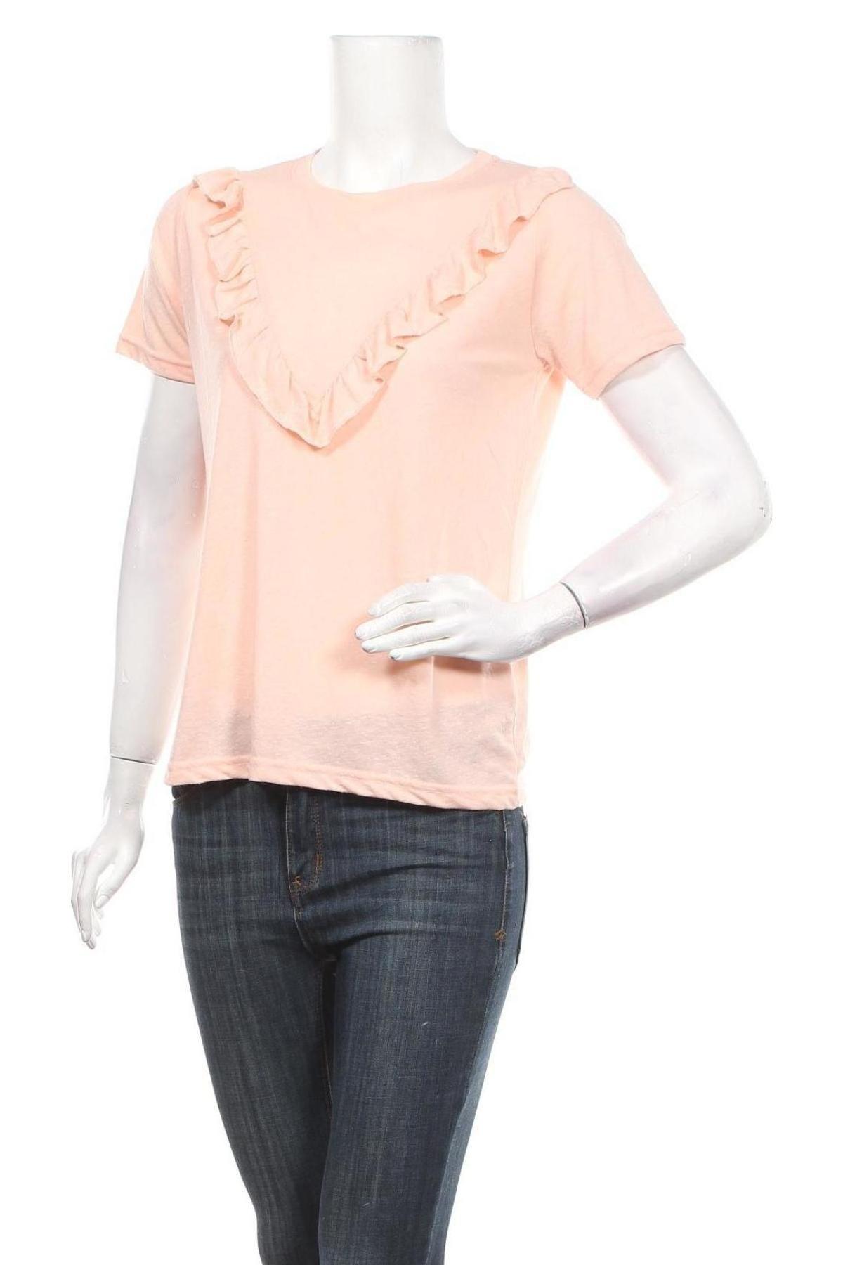 Дамска блуза Sisters Point, Размер XS, Цвят Оранжев, 50% полиестер, 38% памук, 12% вискоза, Цена 27,00лв.