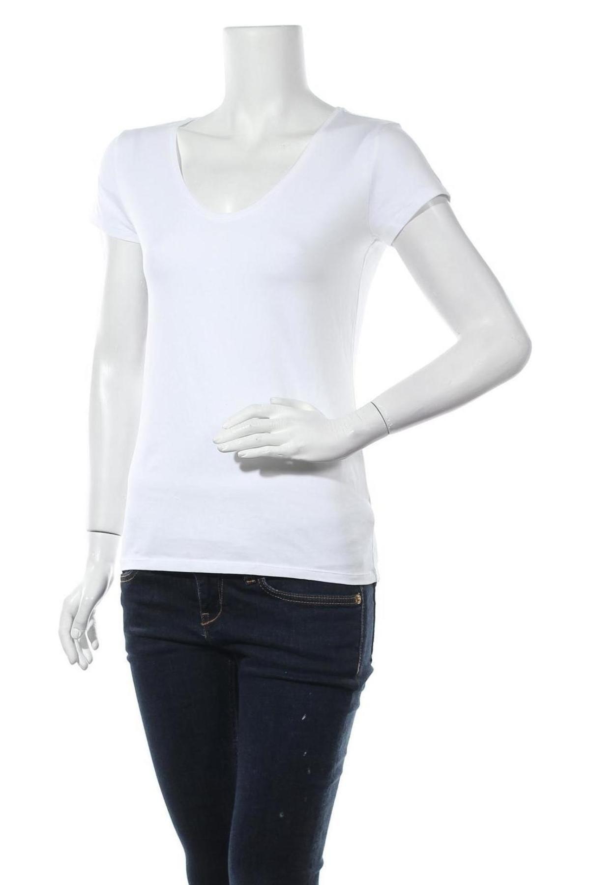 Дамска тениска Massimo Dutti, Размер M, Цвят Бял, Памук, Цена 14,75лв.