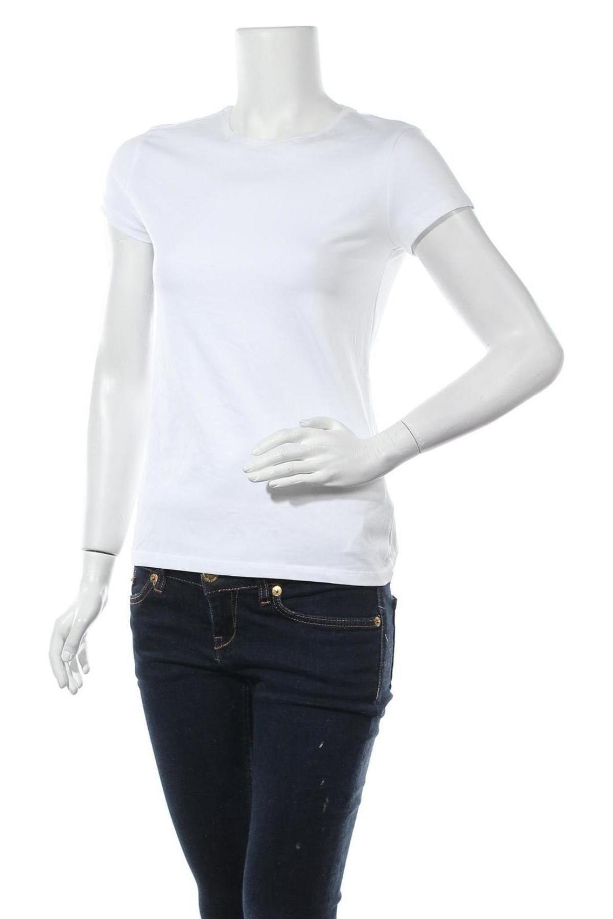 Дамска тениска Massimo Dutti, Размер L, Цвят Бял, 92% памук, 8% еластан, Цена 17,15лв.