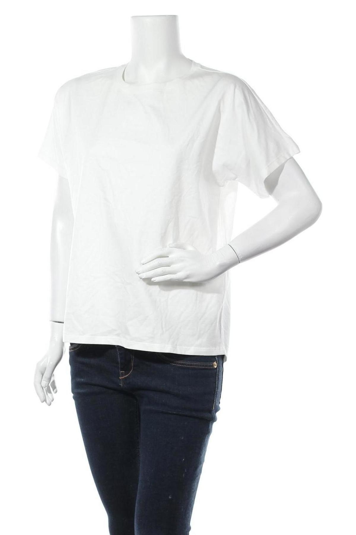 Дамска тениска Massimo Dutti, Размер M, Цвят Бял, Памук, Цена 20,65лв.