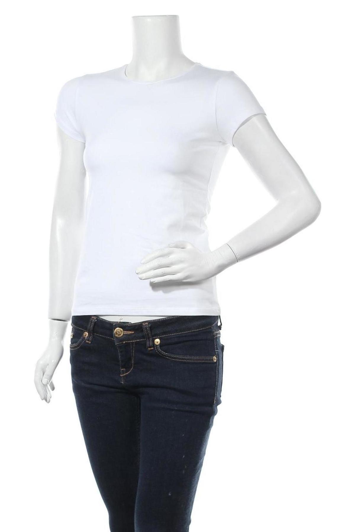 Дамска тениска Massimo Dutti, Размер S, Цвят Бял, 92% памук, 8% еластан, Цена 17,15лв.