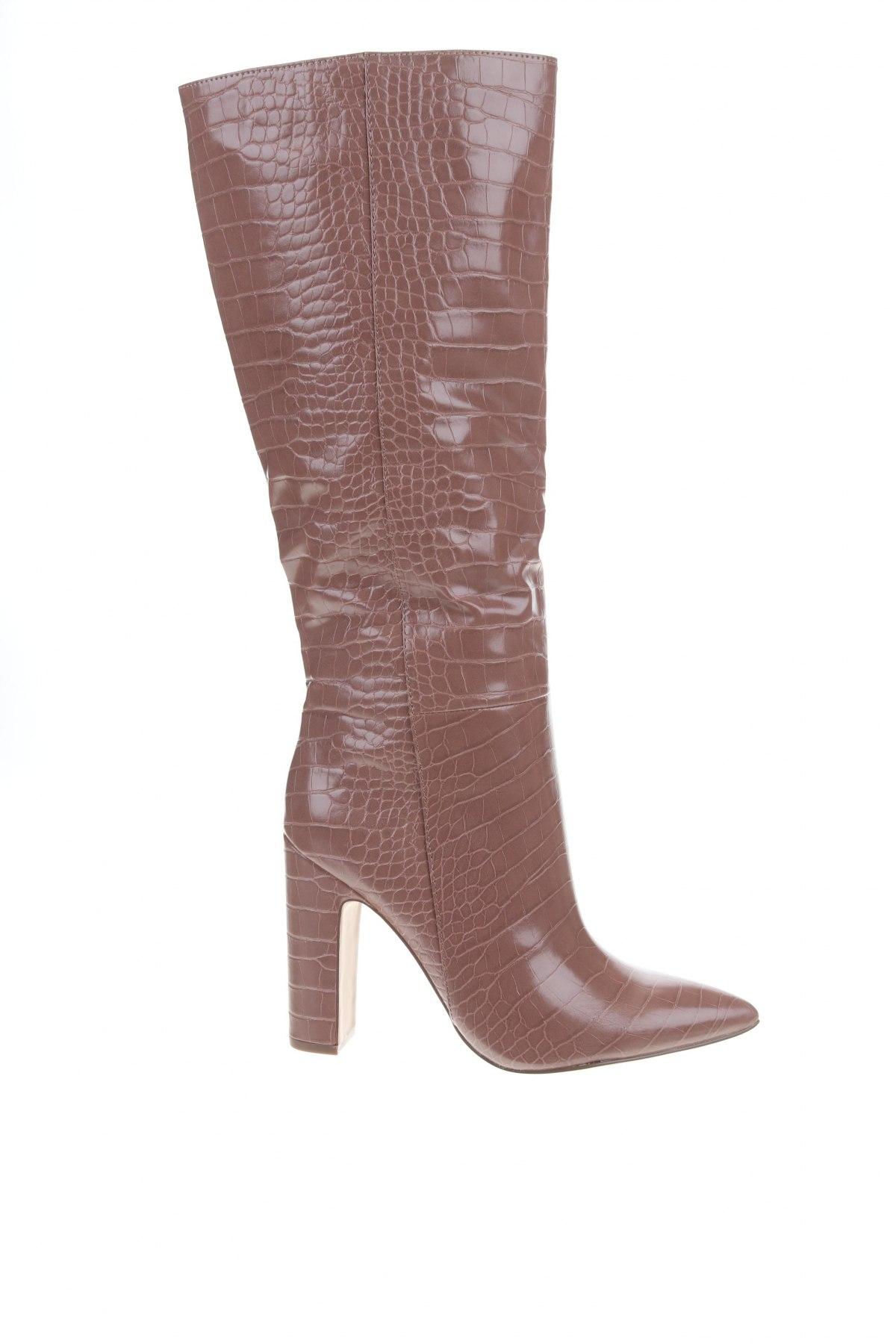 Дамски ботуши Steve Madden, Размер 39, Цвят Бежов, Еко кожа, Цена 77,86лв.