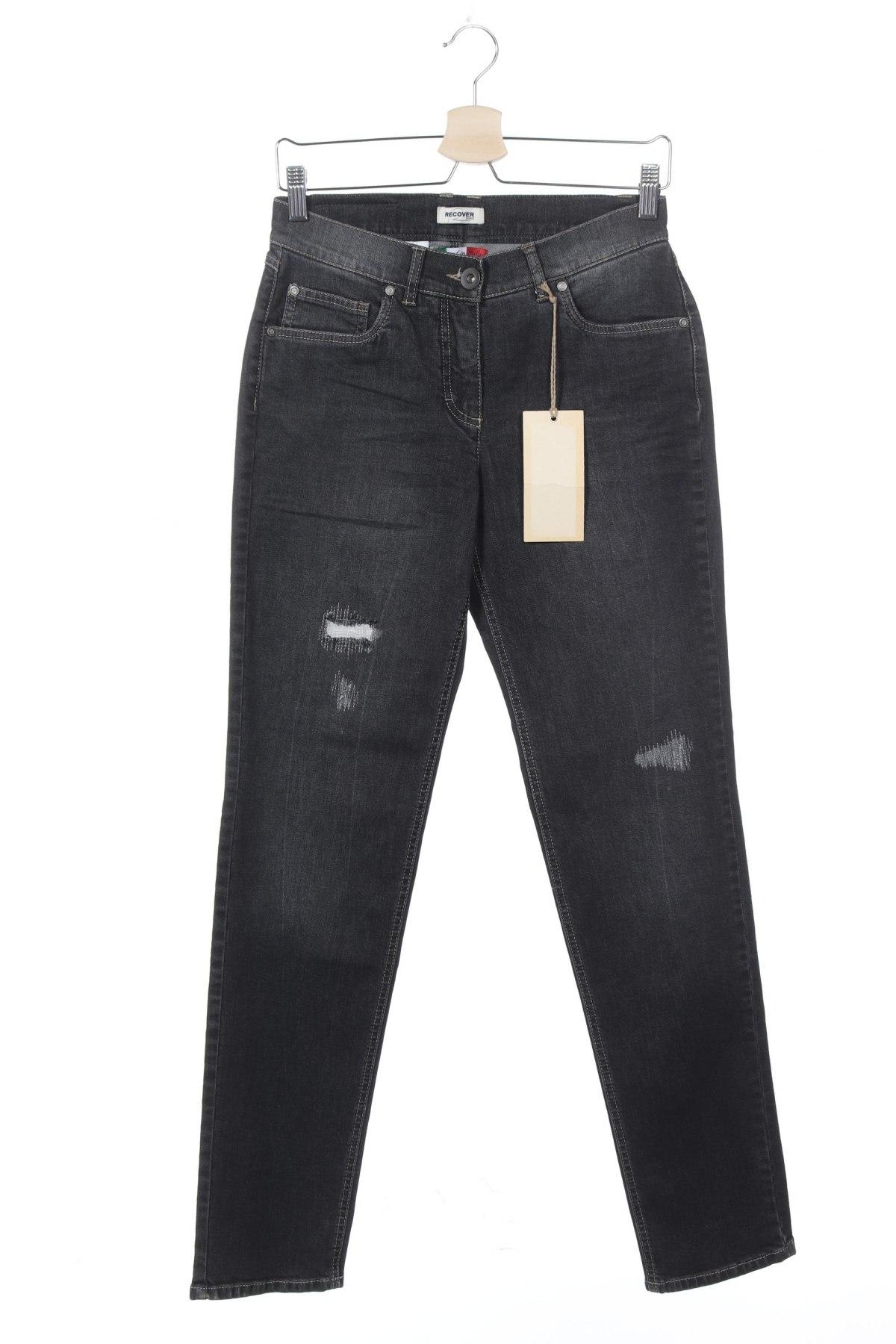 Дамски дънки, Размер XS, Цвят Сив, 98% памук, 2% еластан, Цена 13,50лв.
