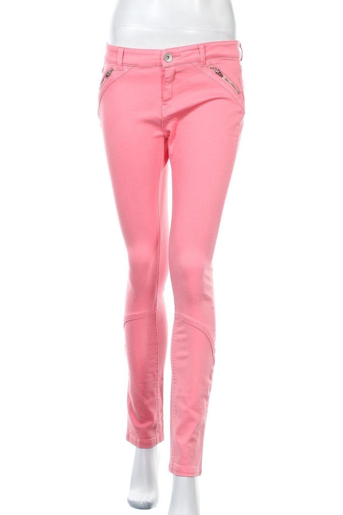 Дамски дънки Esqualo, Размер M, Цвят Розов, 98% памук, 2% еластан, Цена 43,50лв.