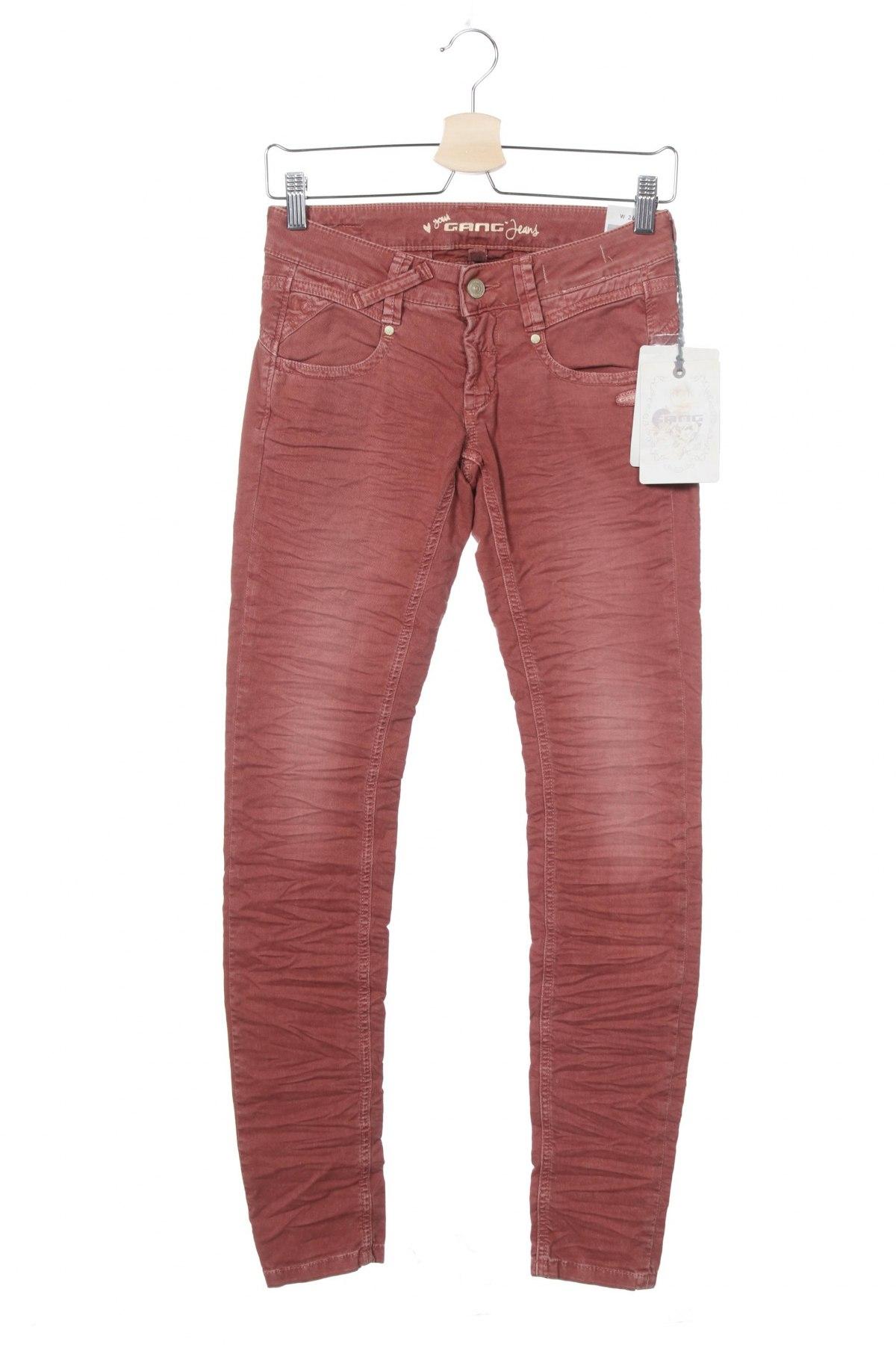 Дамски дънки Gang, Размер XS, Цвят Розов, 98% памук, 2% еластан, Цена 12,72лв.