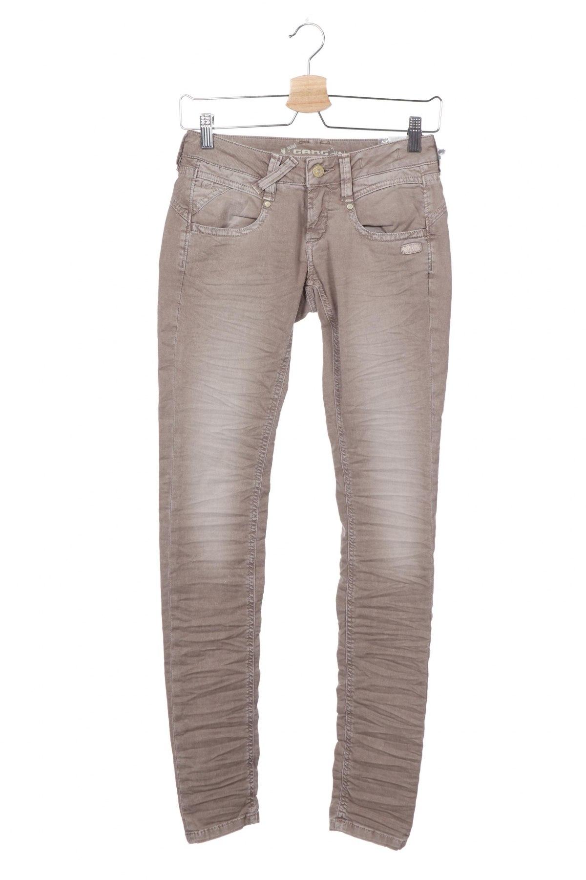 Дамски дънки Gang, Размер S, Цвят Кафяв, 98% памук, 2% еластан, Цена 15,90лв.
