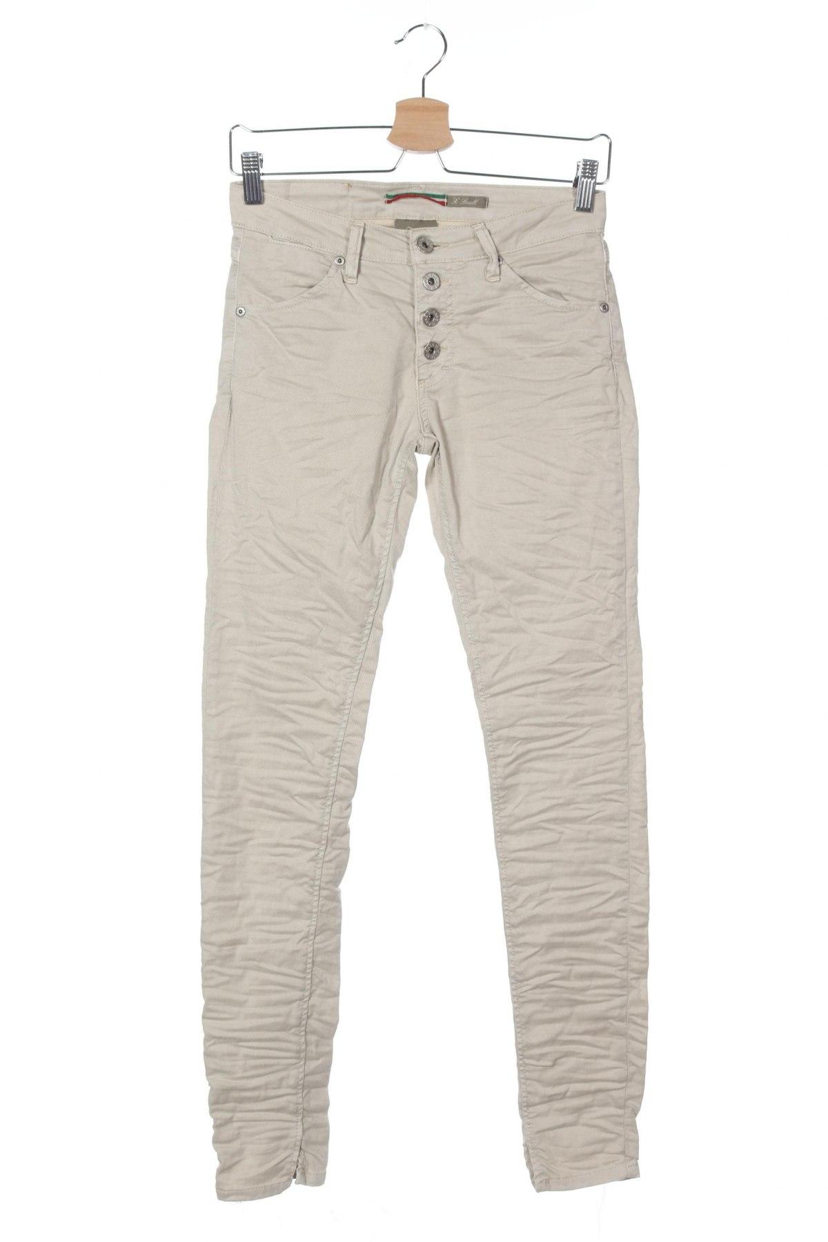 Дамски дънки Please, Размер XS, Цвят Бежов, 98% памук, 2% еластан, Цена 23,85лв.