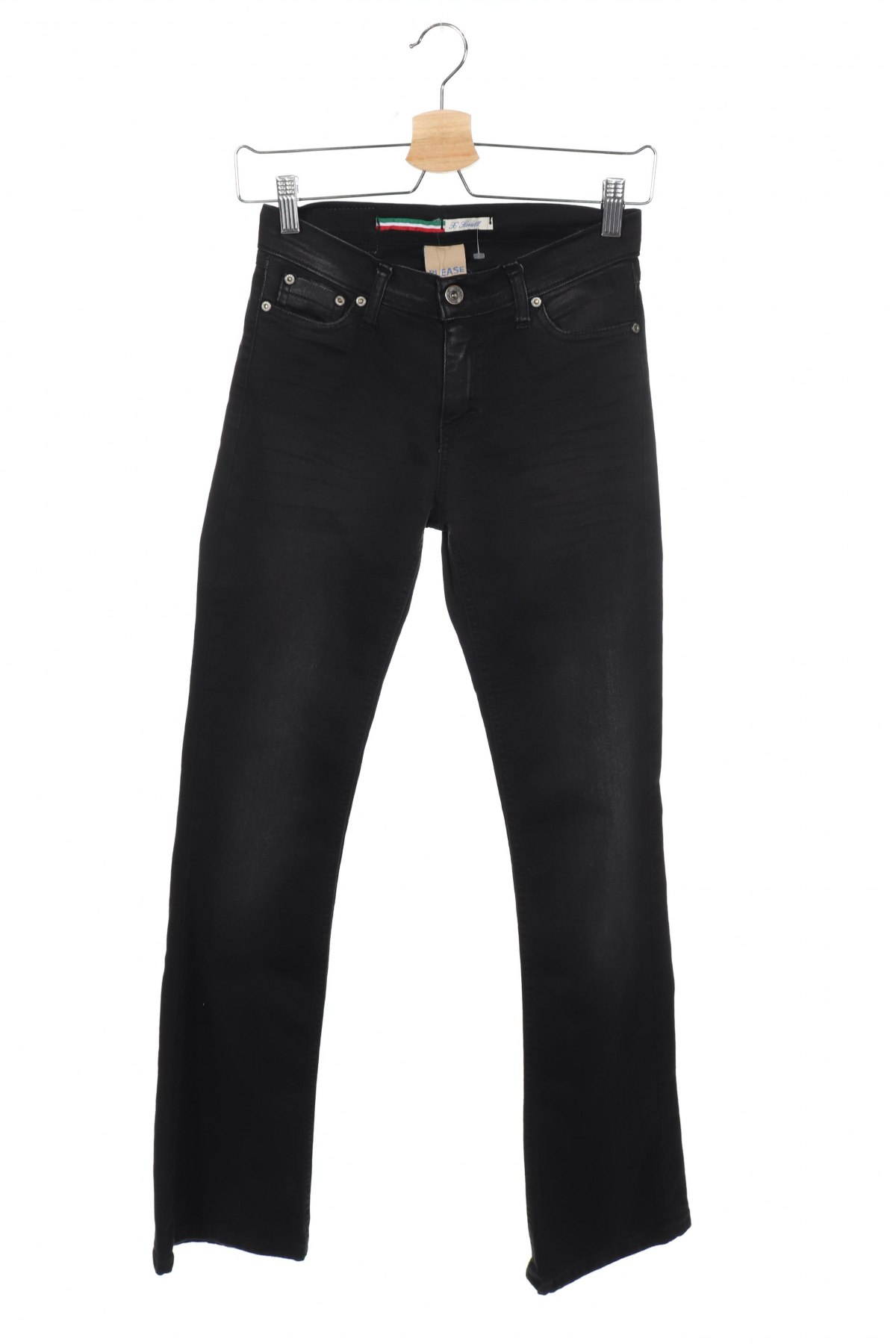 Дамски дънки Please, Размер XS, Цвят Черен, 98% памук, 2% еластан, Цена 111,75лв.