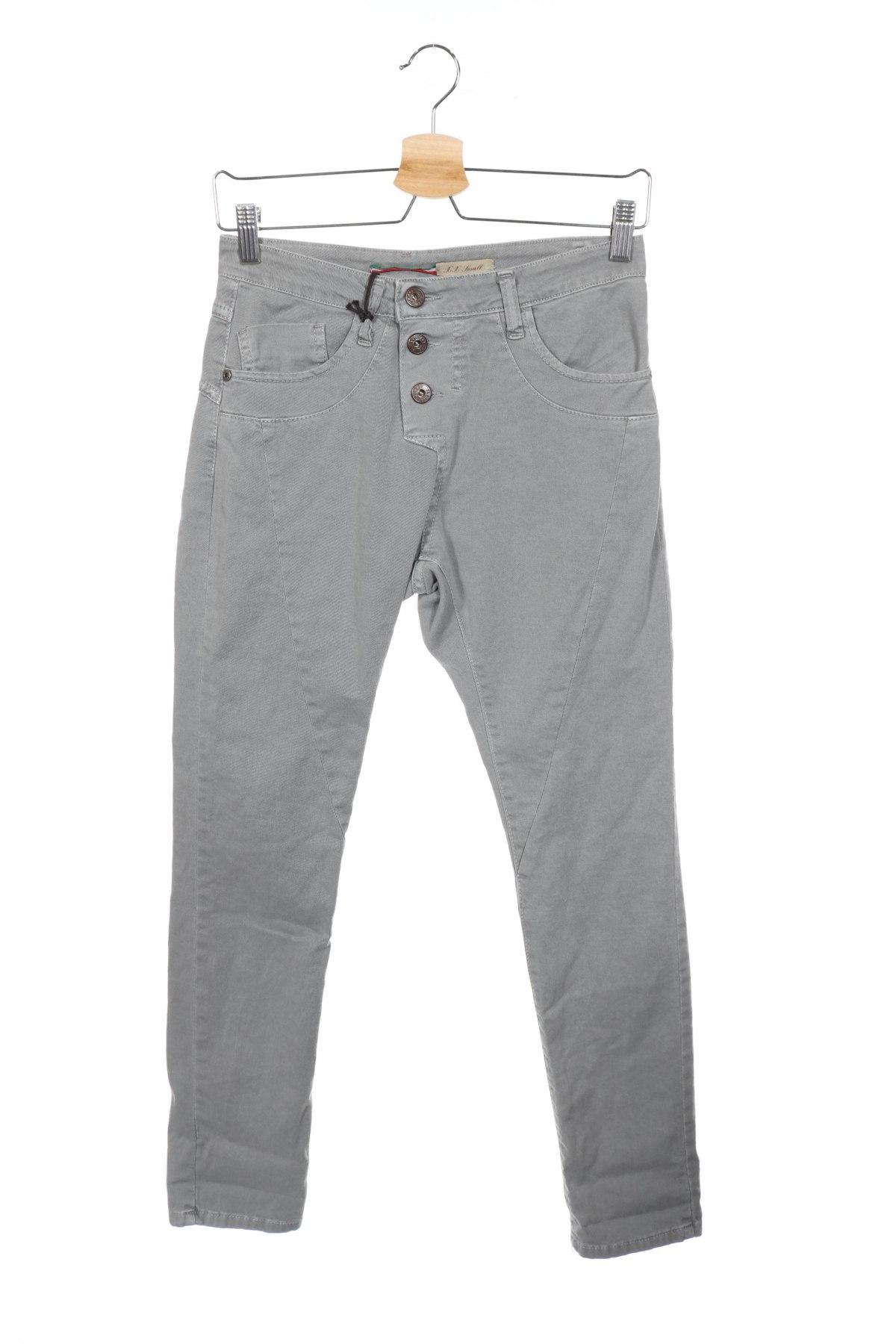 Дамски дънки Please, Размер XXS, Цвят Сив, 98% памук, 2% еластан, Цена 19,08лв.