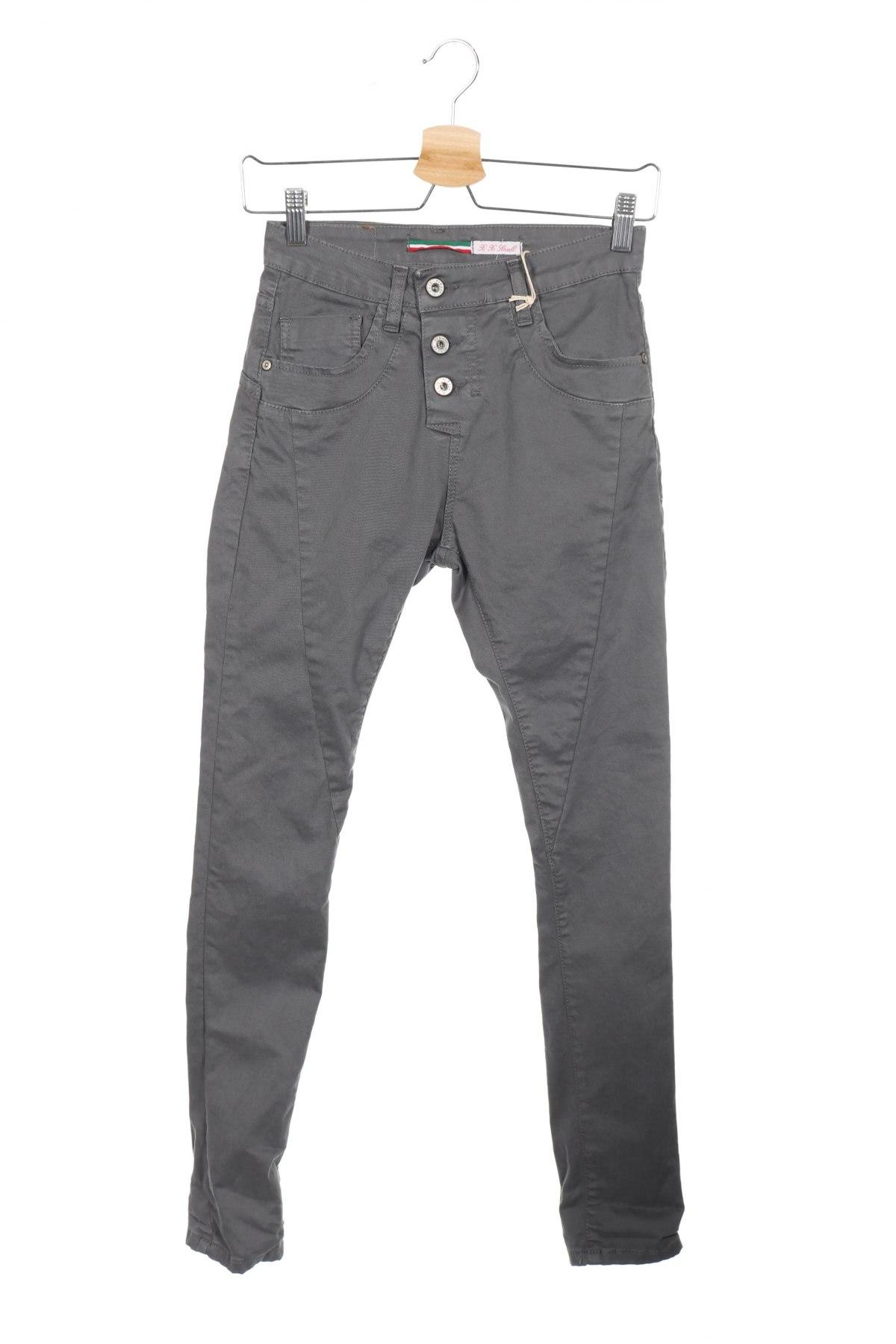 Дамски дънки Please, Размер XXS, Цвят Сив, 98% памук, 2% еластан, Цена 15,90лв.